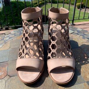 Vince Camuto Lanaira lattice caged open toe heels